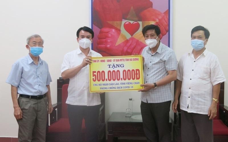 Hải Dương hỗ trợ 500 triệu đồng cho nhân dân Lào phòng chống dịch Covid-19