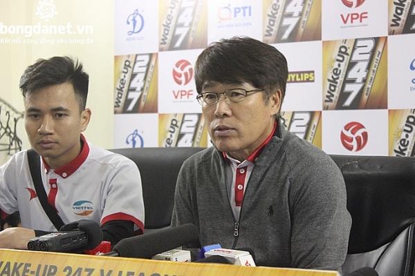 dong huong thay park bat ngo chia tay clb viettel truoc vong 13 v league