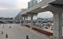 Hà Nội cấm đường Cầu Giấy - Xuân Thủy để thi công đường sắt trên cao