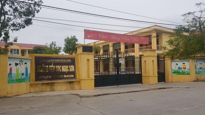 TP Hải Dương kỷ luật cảnh cáo Hiệu trưởng Trường Tiểu học Ngọc Sơn