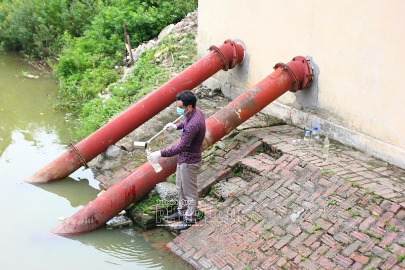 TP Chí Linh (Hải Dương): Làm rõ hiện tượng bọt nổi trắng xóa khi khi bơm nước tưới tiêu