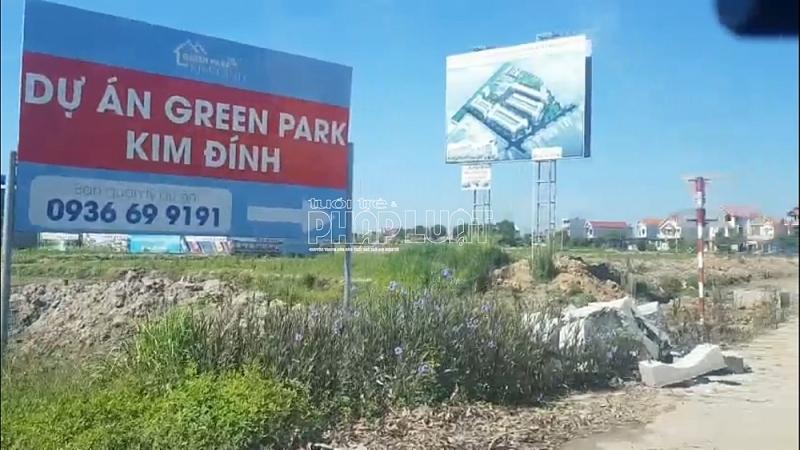 Rầm rộ rao bán những lô đất trên giấy tại dự án Green Park Kim Đính