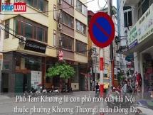 Hàng quán đua nhau chiếm dụng vỉa hè ở phố Tam Khương
