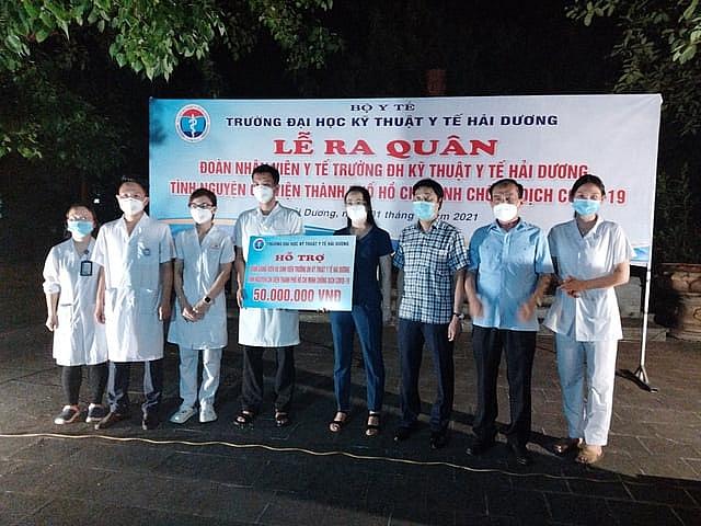 Đại học Kỹ thuật y tế Hải Dương đã tới TP Hồ Chí Minh hỗ trợ chống dịch Covid-19