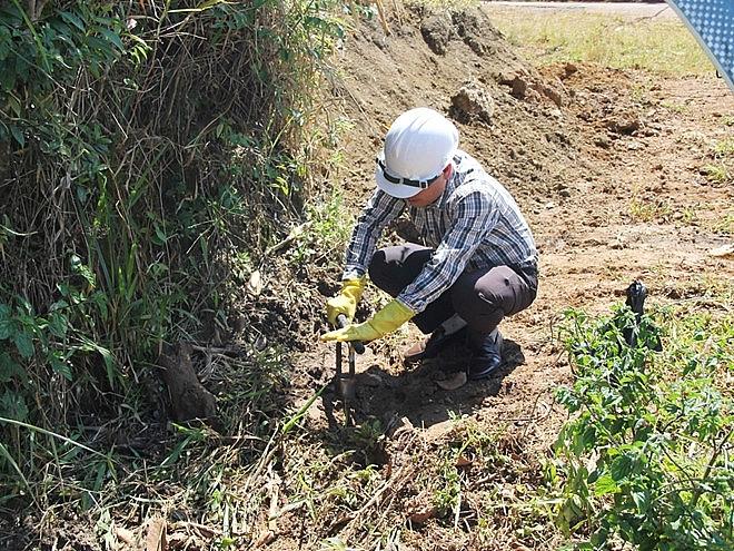 lấy thí nghiệm mẫu đất