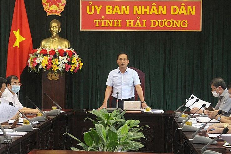 Phó Chủ tịch UBND tỉnh Hải Dương Lưu Văn Bản, Phó trưởng Ban chỉ đạo chủ trì cuộc họp