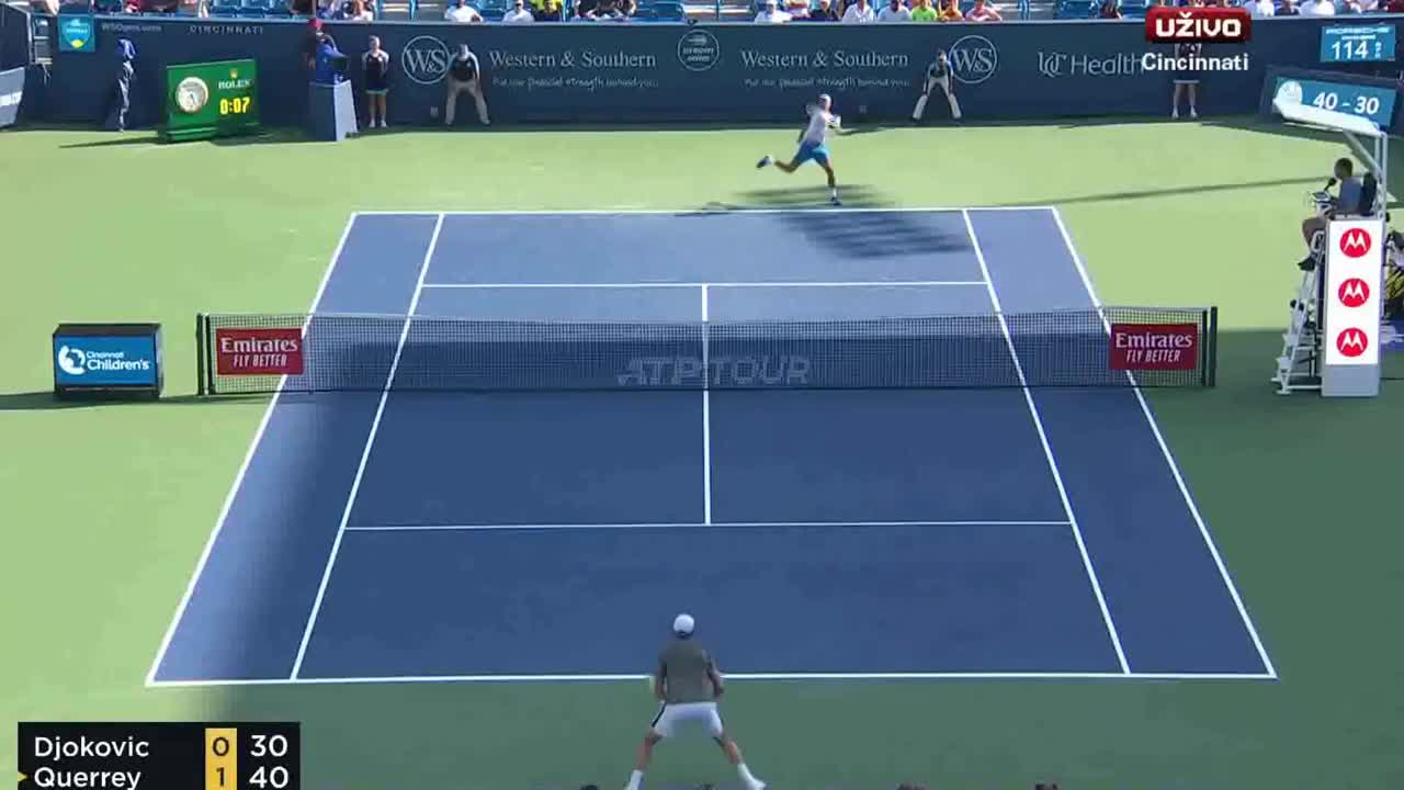 cincinnati 2019 djokovic the hien ban linh truoc querrey highlights