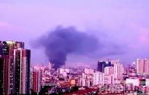 Cháy lớn ở Nguyễn Xiển - Tân Triều