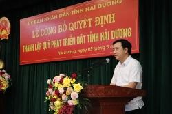 Thành lập Quỹ Phát triển đất tỉnh Hải Dương