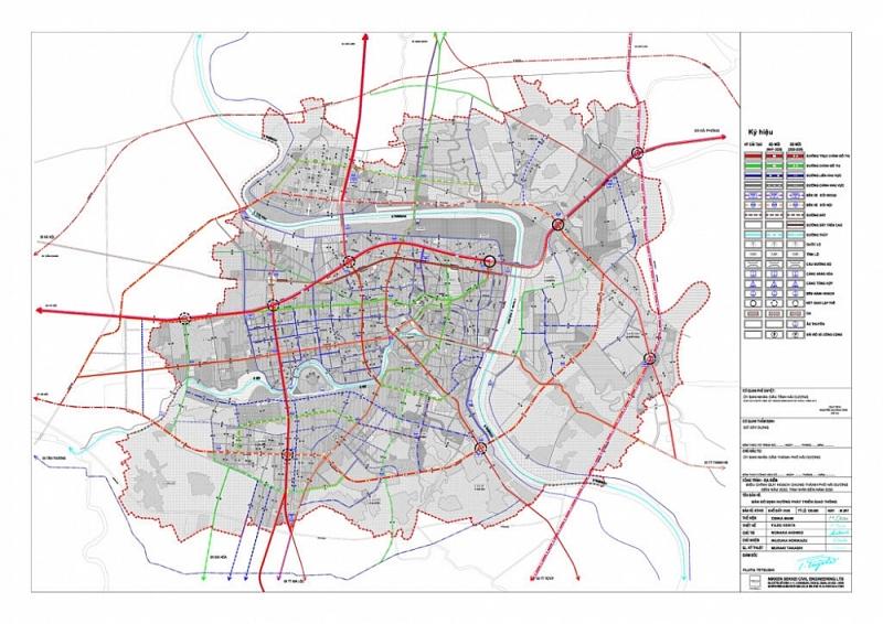 Bản đồ quy hoạch giao thông thành phố Hải Dương