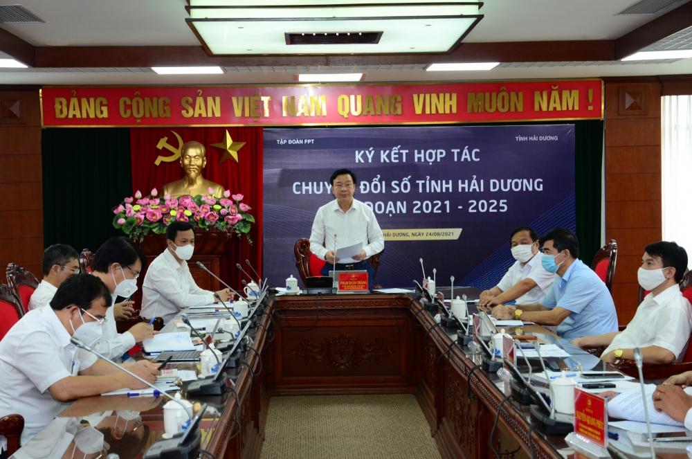 Tỉnh Hải Dương và Tập đoàn FPT hợp sức thúc đẩy chuyển đổi số toàn diện