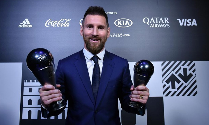 lionel messi gianh giai fifa the best 2019