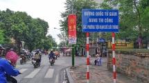 Rào chắn đường Quốc Tử Giám để làm đường sắt Nhổn-Ga Hà Nội