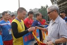 Khai mạc giải bóng đá Hội khỏe Hội Nhà báo Hà Nội lần thứ 25
