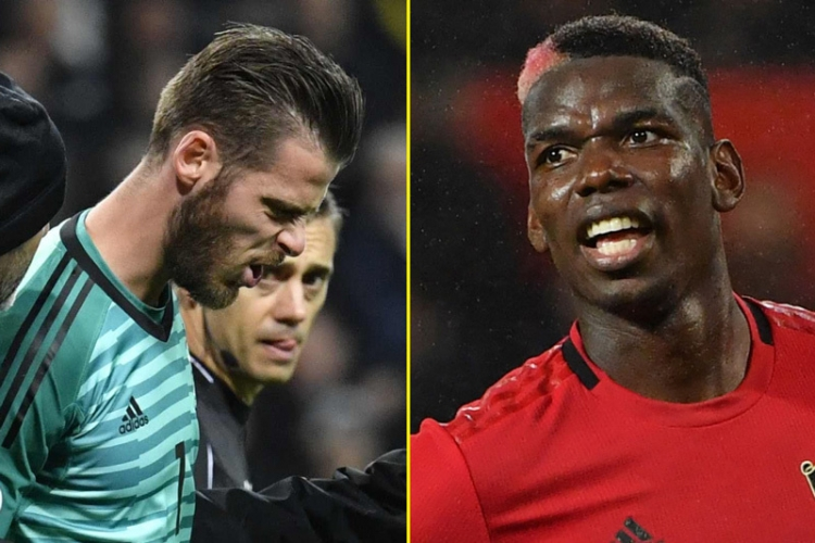 david de gea va paul pogba vang mat o dai chien man utd vs liverpool