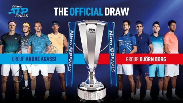 Chia bảng ATP Finals 2019: Federer đấu Djokovic