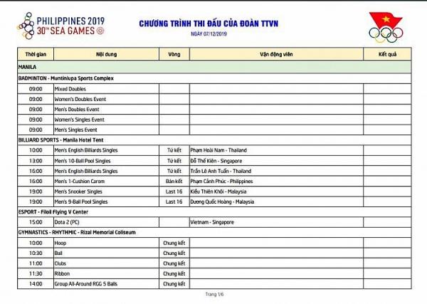 lich thi dau sea games 30 cua doan the thao viet nam 712 cho vang tu taekwondo