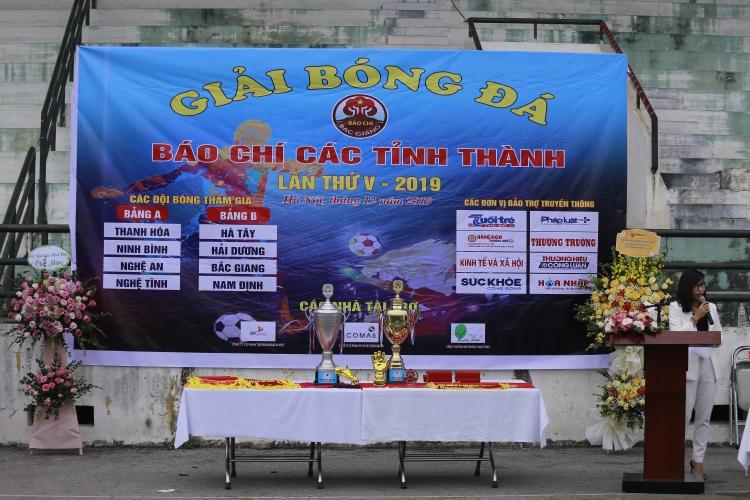 Khai mạc giải bóng đá báo chí các tỉnh thành lần thứ V năm 2019