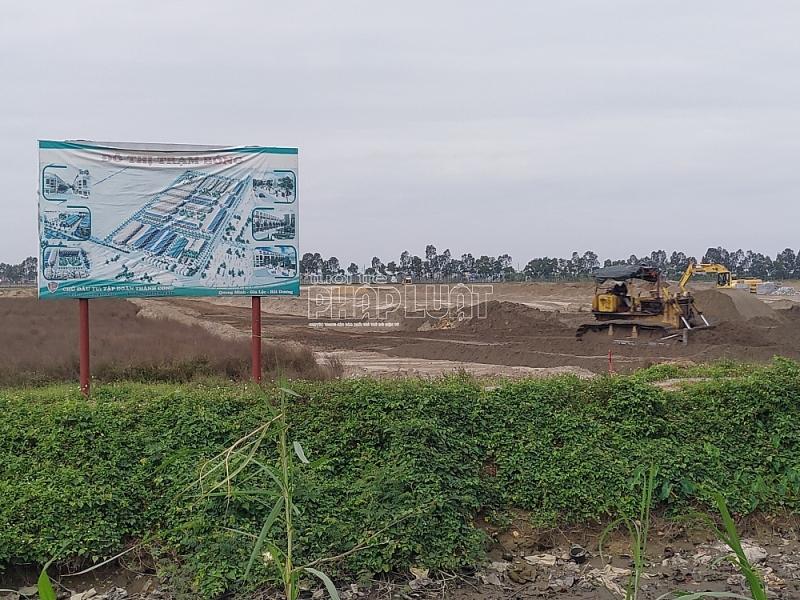 Dự án Khu dân cư mới Trạm Bóng thi công không có giấy phép, chính quyền ở đâu?