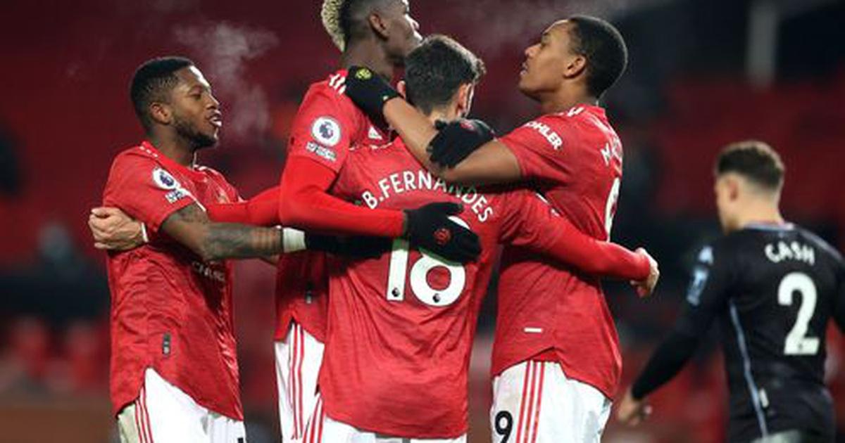 Đánh bại Aston Villa, Man Utd vươn lên bằng điểm Liverpool