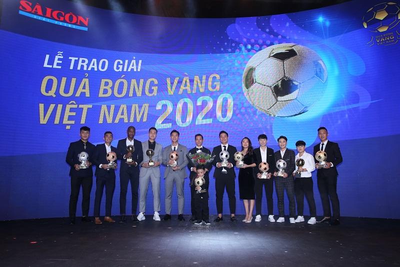 VFF - Văn Quyết, Huỳnh Như và Minh Trí đoạt Quả bóng Vàng Việt Nam 2020