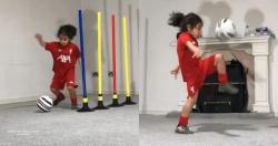 """""""Thần đồng"""" 6 tuổi Arat đi bóng, ghi bàn như Messi"""