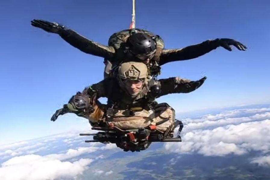 Biệt đội lính khuyển nhảy dù của quân đội Pháp