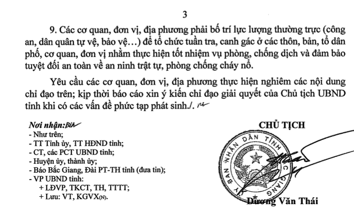 tinh bac giang ban hanh cong van hoa toc thuc hien nghiem chi thi 16 cua thu tuong chinh phu