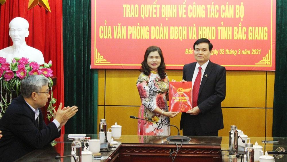 Bắc Giang bổ nhiệm Chánh Văn phòng Đoàn ĐBQH và HĐND tỉnh