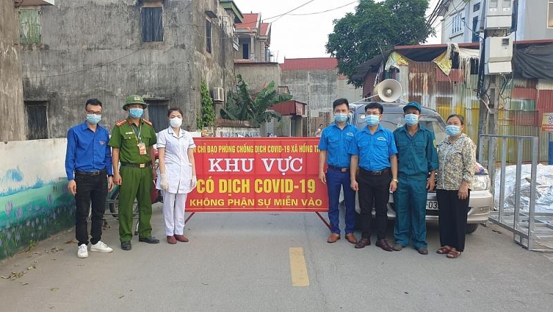 Tỉnh Bắc Giang thực hiện giãn cách xã hội thôn Đức Liễn, xã Hồng Thái, huyện Việt Yên để phòng, chống dịch Covid-19