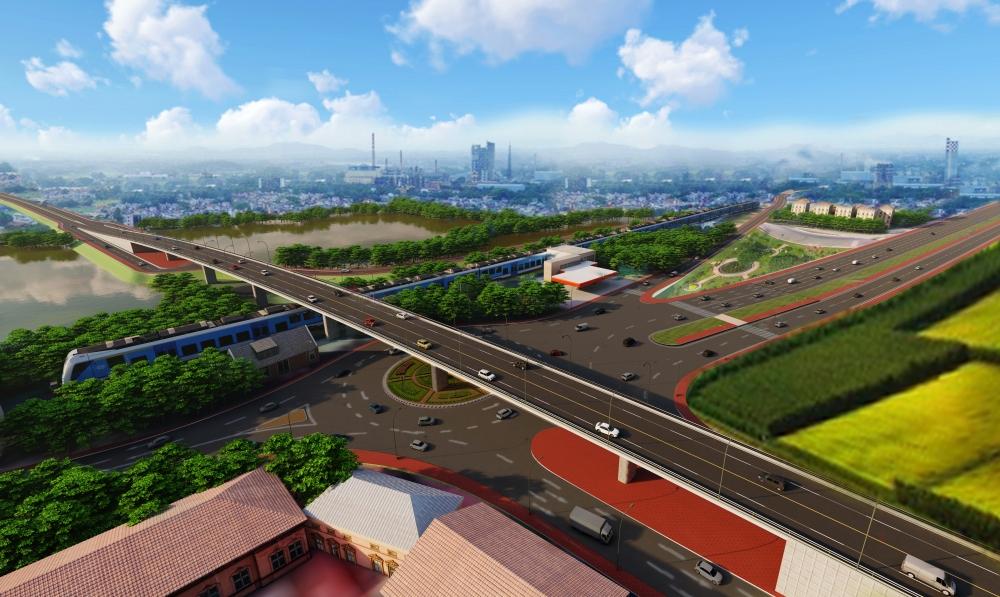 Thành phố Bắc Giang thông xe kỹ thuật đường vành đai, chào mừng Đại hội Đảng bộ tỉnh lần thứ XIX