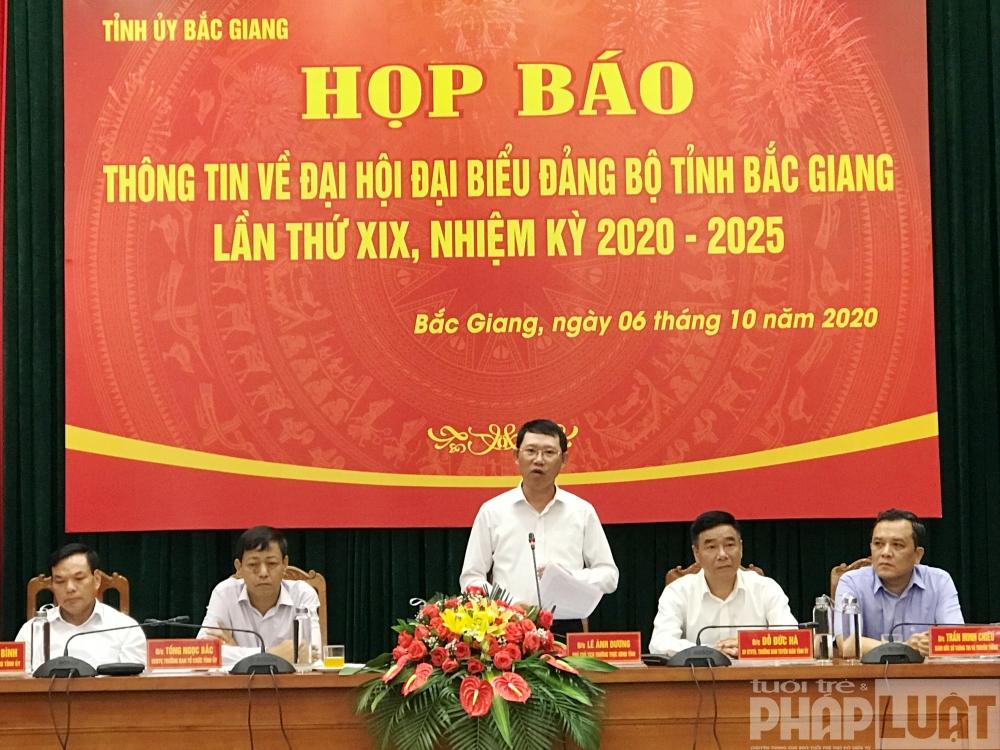 Tỉnh ủy Bắc Giang tổ chức Họp báo thông tin về Đại hội đại biểu đảng bộ tỉnh Bắc Giang lần thứ XIX