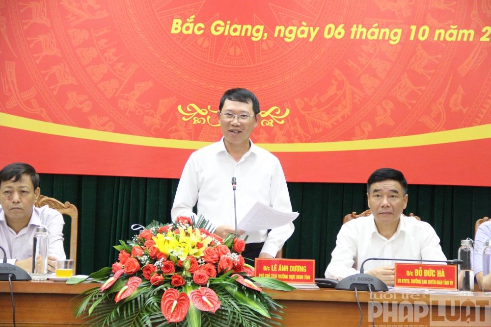 Họp báo thông tin về Đại hội Đại biểu Đảng bộ tỉnh Bắc Giang lần thứ XIX