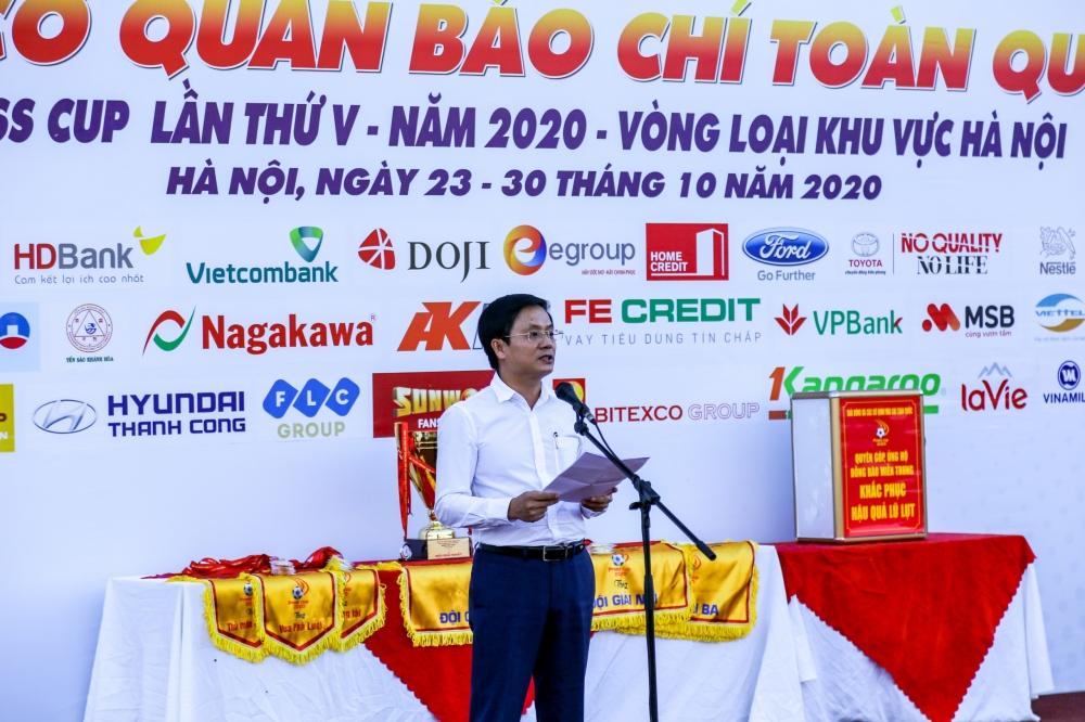 Khai mạc giải bóng đá Press Cup 2020, Ban Tổ chức phát động ủng hộ đồng bào miền Trung
