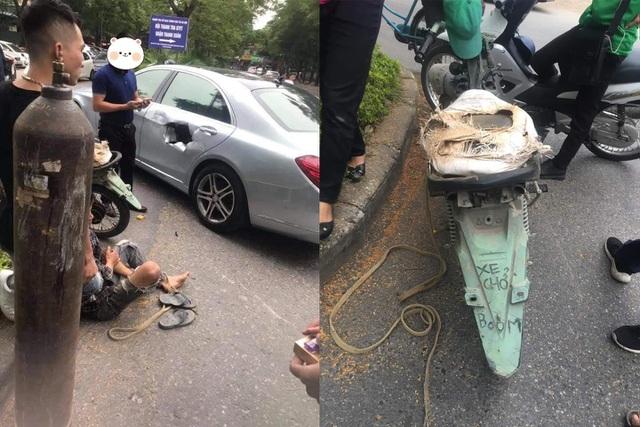 Xe chở bình oxy đâm thủng Mercedes và nhức nhối vấn nạn xe máy cũ nát - 1