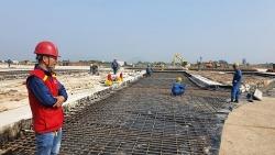 Cận cảnh công trường thi công đường băng Nội Bài những ngày nước rút