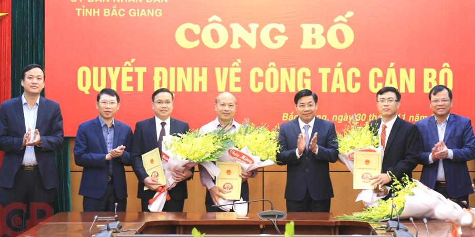 3 sở của Bắc Giang có tân Giám đốc