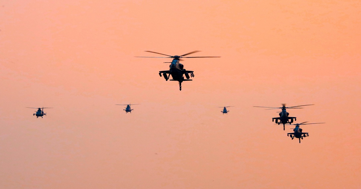 Trung Quốc điều trực thăng diễn tập đổ bộ, tấn công đảo