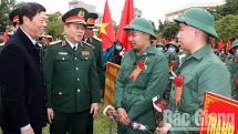 Hàng nghìn thanh niên các tỉnh Thái Nguyên, Bắc Ninh, Bắc Giang lên đường nhập ngũ