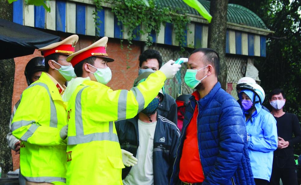 Công an TP Hà Nội tham gia phòng, chống dịch Covid-19