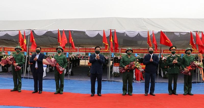 Lễ giao, nhận quân tại tỉnh Thái Nguyên diễn ra trang trọng, an toàn