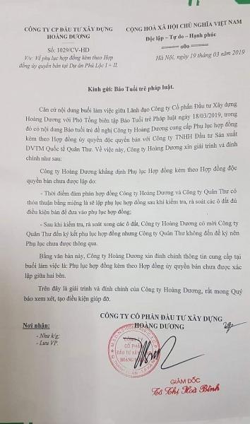 dau hieu khong minh bach ve tai chinh tai du an kdt phu loc i va ii