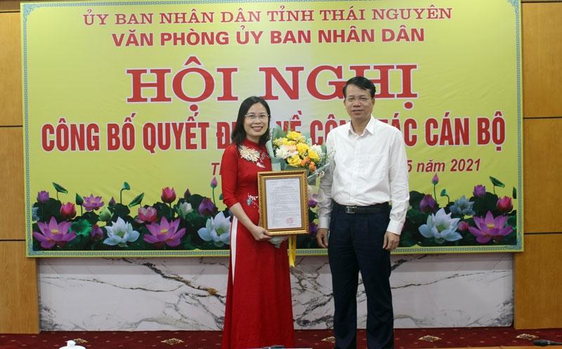 Thái Nguyên: Bổ nhiệm Phó Chánh văn phòng UBND tỉnh