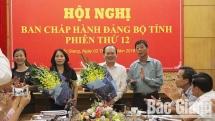 bo sung can bo tham gia ban chap hanh dang bo tinh bac giang