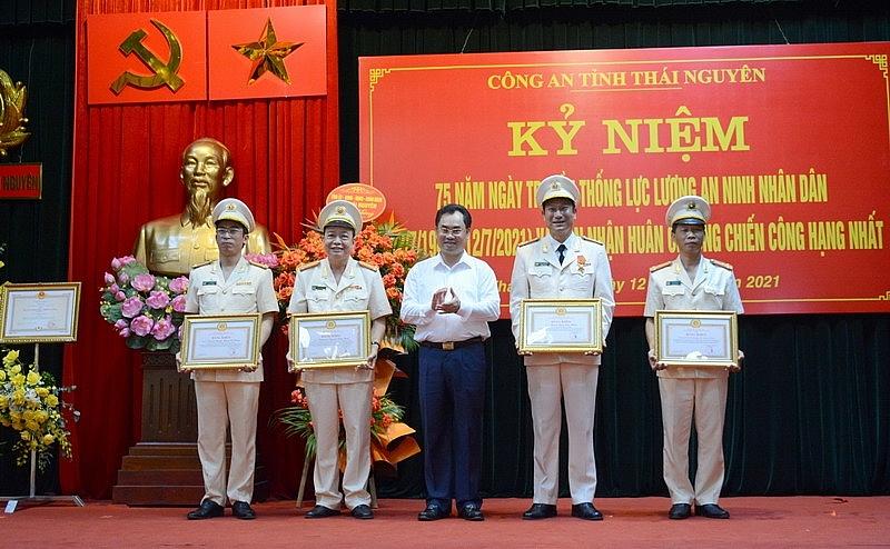 Công an tỉnh Thái Nguyên đón nhận Huân chương Chiến công hạng Nhất