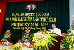 Bắc Giang: Huyện Lục Nam tổ chức thành công Đại hội lần thứ XXII nhiệm kỳ 2020 - 2025