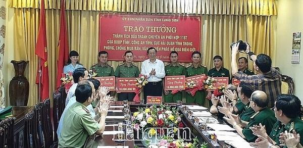 ubnd tinh lang son khen thuong nhieu luc luong pha chuyen an phao no va ma tuy