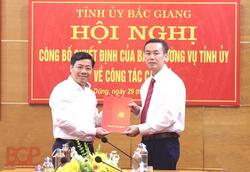 Bắc Giang: Phó trưởng ban Thường trực Ban Tuyên giáo Tỉnh ủy giữ chức Bí thư huyện uỷ Yên Dũng