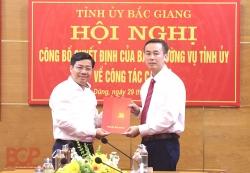 Bắc Giang:  Phân công ông Thạch Văn Chung giữ chức Bí thư huyện uỷ Yên Dũng