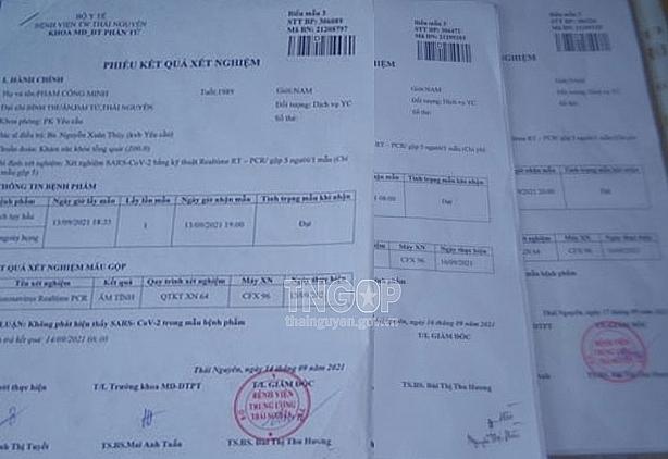 Thái Nguyên bắt giữ 7 đối tượng làm giả giấy xét nghiệm PCR